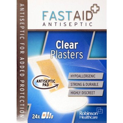 Fastaid plasters clear 24 pack