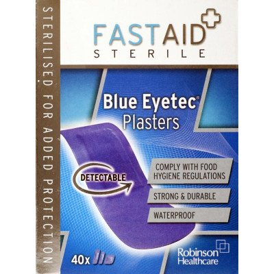 Fastaid plasters blue eyetec 40 pack