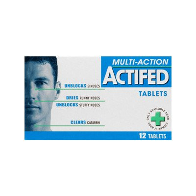Actifed multi action tablets