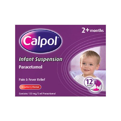 Calpol infant suspension sachets 120mg 5ml 12 pack