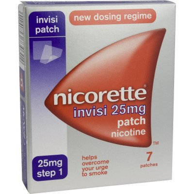 Nicorette Invisi-Patch 25mg 7 pack