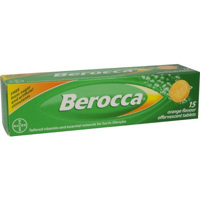 Berocca vitamin B effervescent tablets orange 15 pack