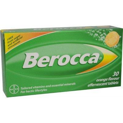 Berocca vitamin B effervescent tablets orange 30 pack
