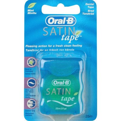 Oral-b dental tape Satintape mint flavoured 25m