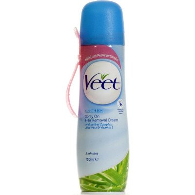 Veet hair removal cream spray-on sensitive 150ml