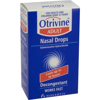 Otrivine adult nasal drops 0.1% 10ml