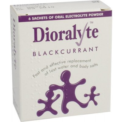 Dioralyte supplement sachets blackcurrant 6 pack