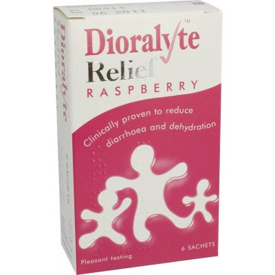 Dioralyte relief oral rehydration therapy sugar-free sachets raspberry 6 pack