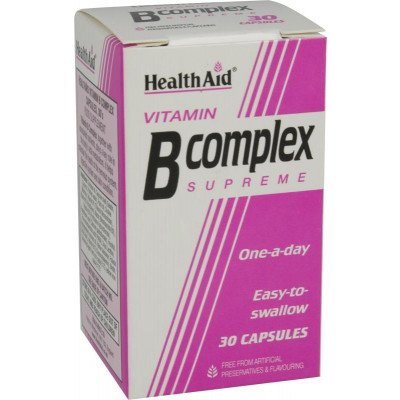 Healthaid vitamin B supplements B complex supreme capsules 30 pack