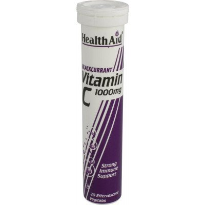 Healthaid vitamin C supplements effervescent tablets blackcurrant 20 pack