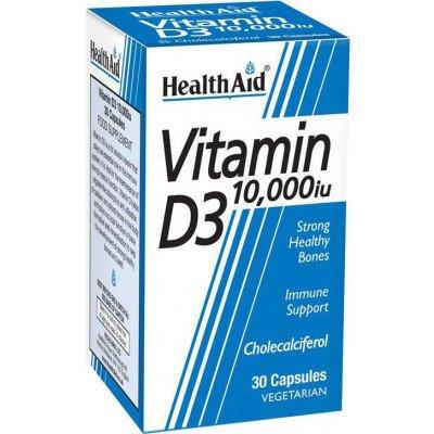 Healthaid vitamin D supplements vitamin D3 10,000iu 30 pack