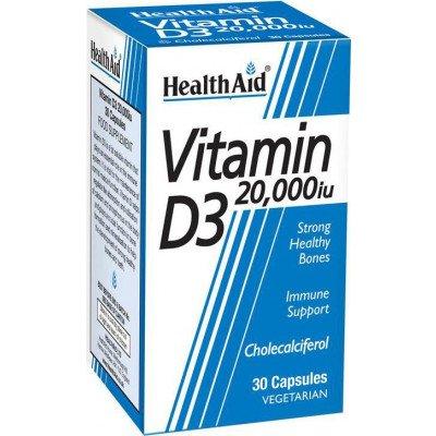 Healthaid vitamin D supplements vitamin D3 20,000iu 30 pack