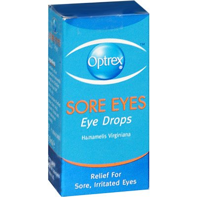 Optrex eye care eye drops sore eyes 13%v/v 10ml