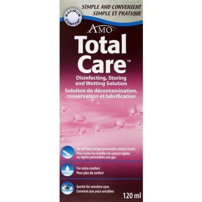 Total care gas permrable &hard lens disinfecting & wetting solution 120ml