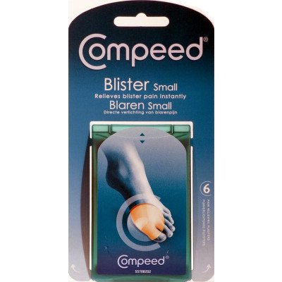 Compeed Hydrocolloid patches blisters small 6 pack