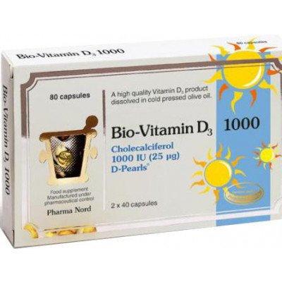 Bio-vitamin d3 colecalciferol capsules 1000iu 80 pack