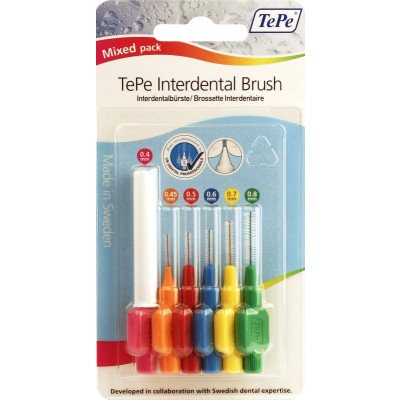 Tepe interdental brushes mixed mixed 6 pack