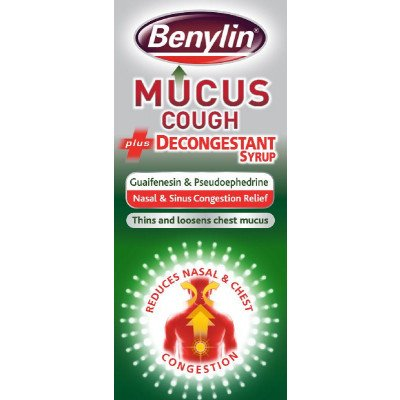 Benylin mucus cough + decongestant 100ml