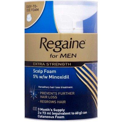 Regaine topical scalp foam 5% extra strength for men 5% 73ml 3 pack
