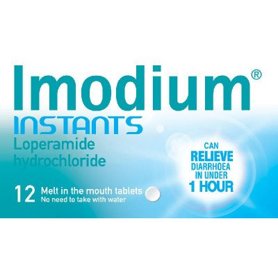 Imodium instants 2mg 12 pack