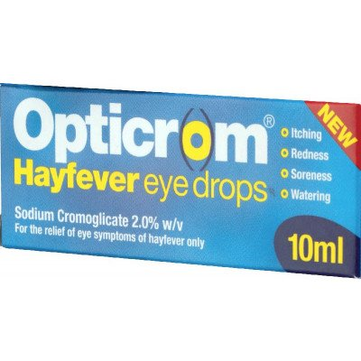 Opticrom hayfever eye drops 2% w/v 10ml