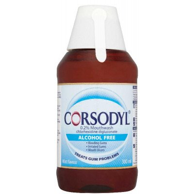 Corsodyl mouthwash alcohol free 0.2% w/v 300ml