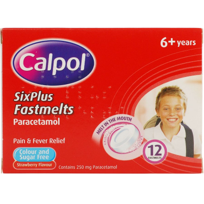 CALPOL FASTMELTS 6+ 250MG 12