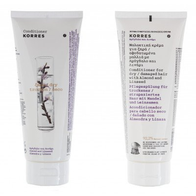 Korres Conditioner Almond and Linseed_for dry/ damaged hair_ 200ml