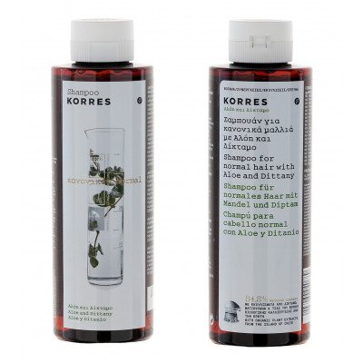 Korres Shampoo Aloe and Dittany_for normal hair_250ml