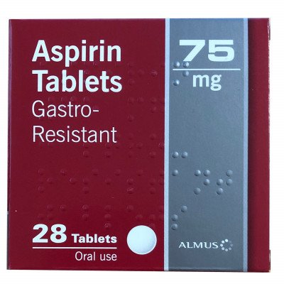 Aspirin tablets e/c 75mg  28