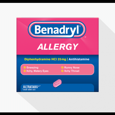 BENADRYL ALLERGY RELIEF capsules 8mg  48
