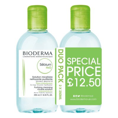 Bioderma Sebium H2O Duo Pack 250ml
