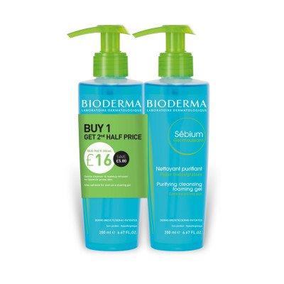 BioDerma Sebium Foaming Gel Duo Pack 200ml