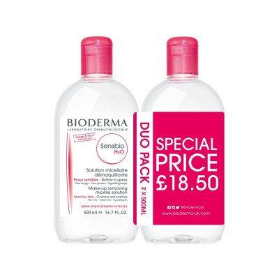 Bioderma Sensibio H2O 500ml duo pack