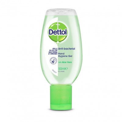 Dettol anti-bacterial hand gel aloe vera 50ml