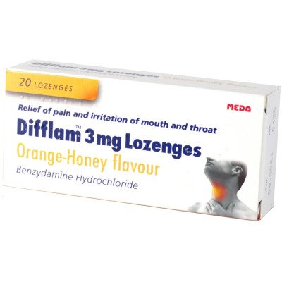 DIFFLAM lozenges orange & honey  20