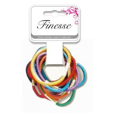 Finesse Coloured Elastics Thin Small