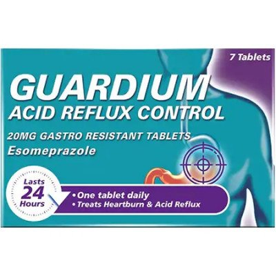 Guardium Acid Reflux Control 20mg Gastro Resistant Tablets