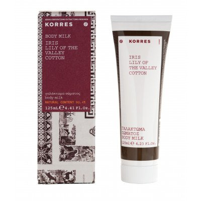 Korres Iris, Lily of the Valley and Cotton 125ml, boxed body lotion