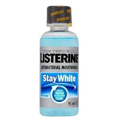 Listerine antiseptic mouthwash stay white 95ml