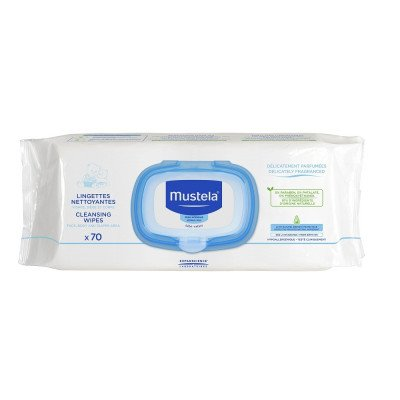 Mustela Cleansing Wipes - 70 Packs