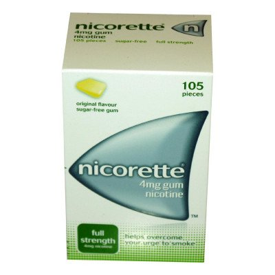 Nicorette chewing gum original 4mg 105 pack