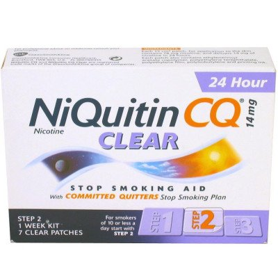Niquitin patches clear 14mg 7 pack