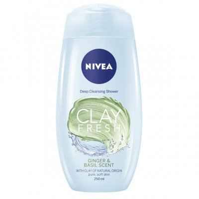 NIVEA bath & shower gel clay fresh ginger & basil 250ml