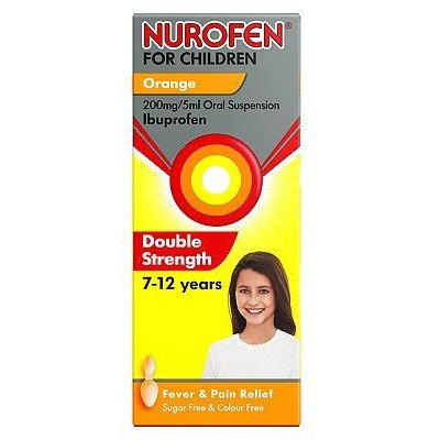 Nurofen Children Double Strength 7-12 Years Orange