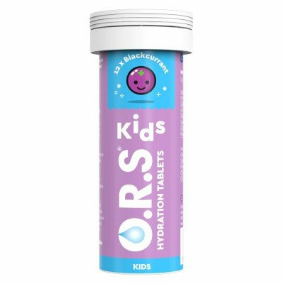 O.R.S. oral rehydration salt for children tablets Blackcurrant 12