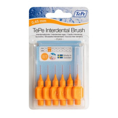 Tepe interdental brushes orange 0.45mm 6 pack