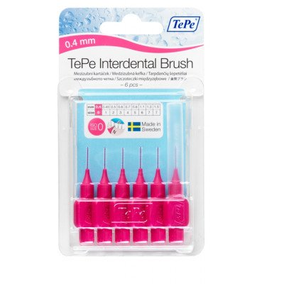 Tepe interdental brushes pink 0.4mm 6 pack