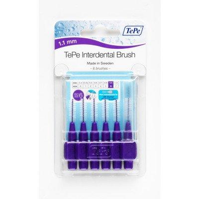 Tepe interdental brushes Purple 1.1mm 6 pack