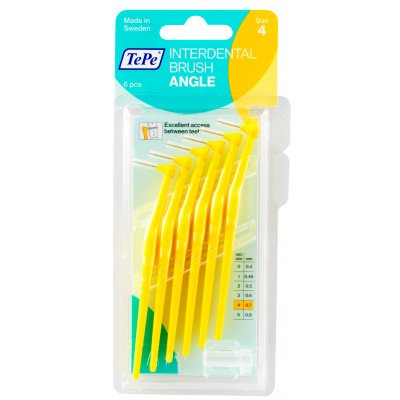 Tepe interdental toothbrushes Angle yellow 0.7mm 6 pack